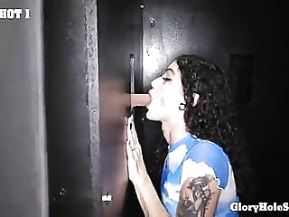 Lydia Black's First Glory Hole blowjob cumshot deep throat