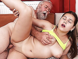 first sex with grandpa amateur old & young czech